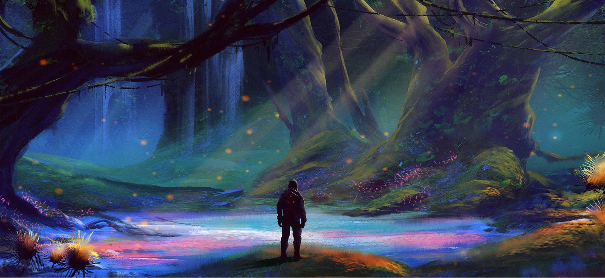 #artwork, #fantasy Art, #concept Art, #forest, #nature - Forest Gaia , HD Wallpaper & Backgrounds