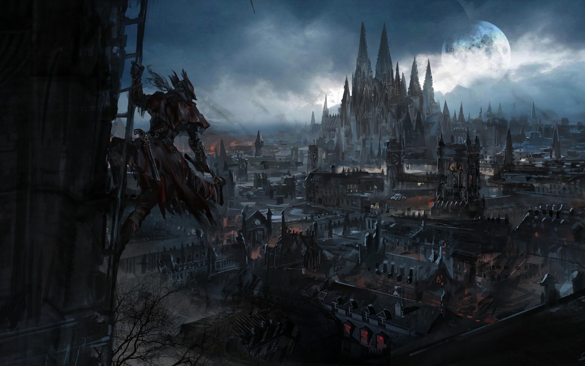 Wallpaper Dark Fantasy City Bloodborne Video Game Bloodborne City 1905980 Hd Wallpaper Backgrounds Download