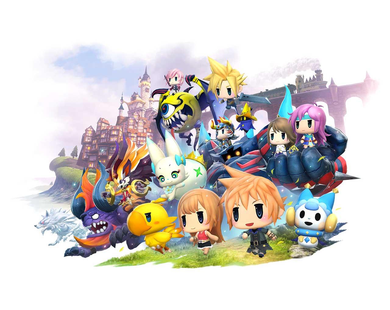 World Of Final Fantasy Wallpaper 1 - World Of Final Fantasy Maxima , HD Wallpaper & Backgrounds