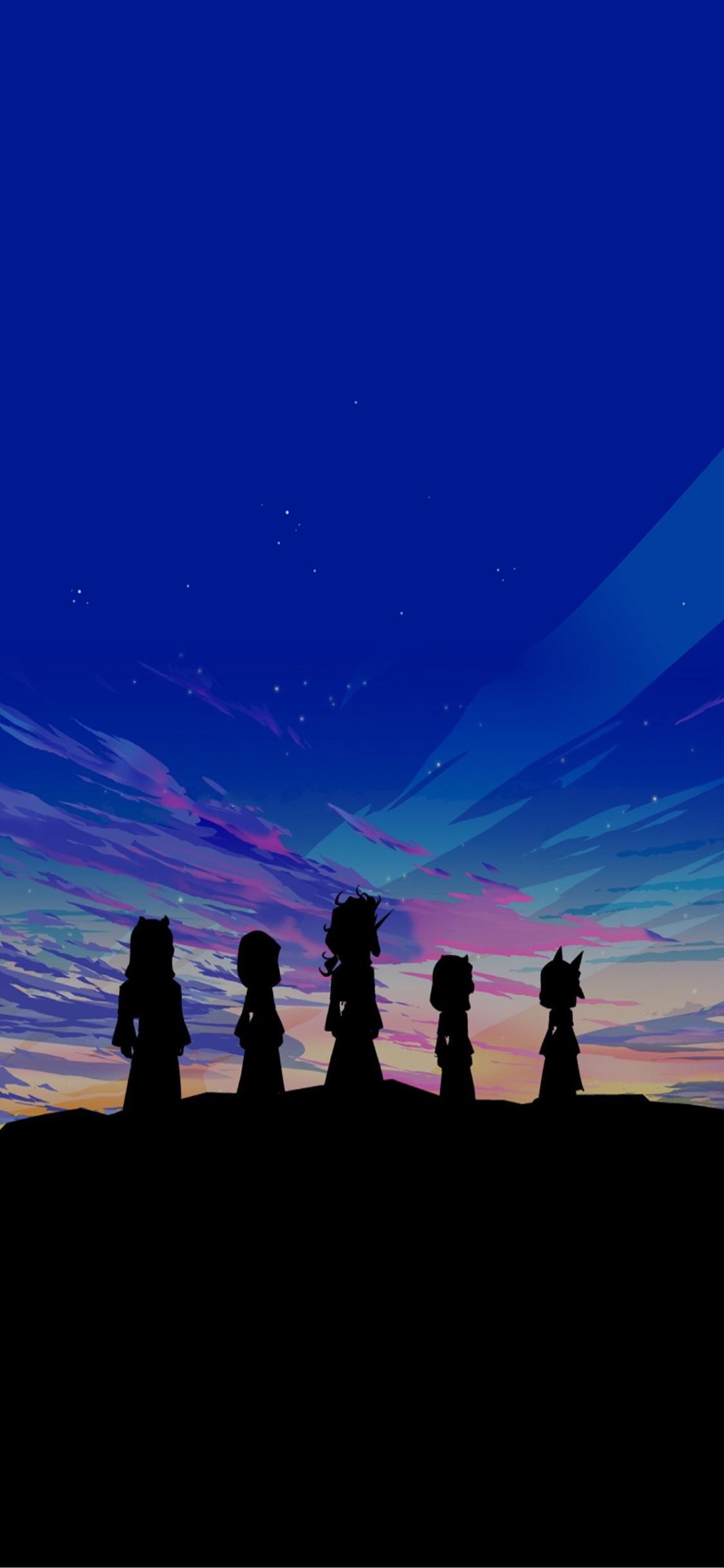 Kingdom Hearts Aqua Iphone Wallpaper ↺ - Silhouette , HD Wallpaper & Backgrounds