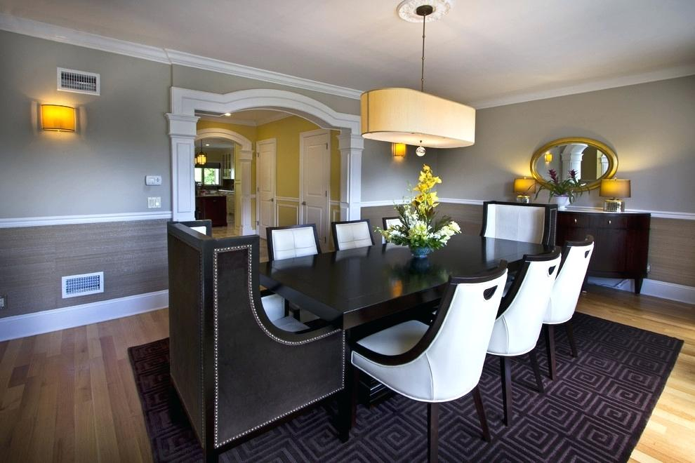 Dining Room With Chair Rail Color Ideas For Dining Two Toned Dining Room Chairs 1911811 Hd Wallpaper Backgrounds Download