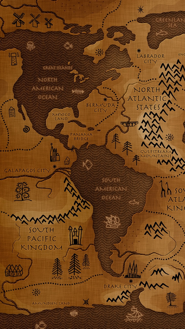 World Map Iphone Se Wallpaper Old Timey Map Of The World