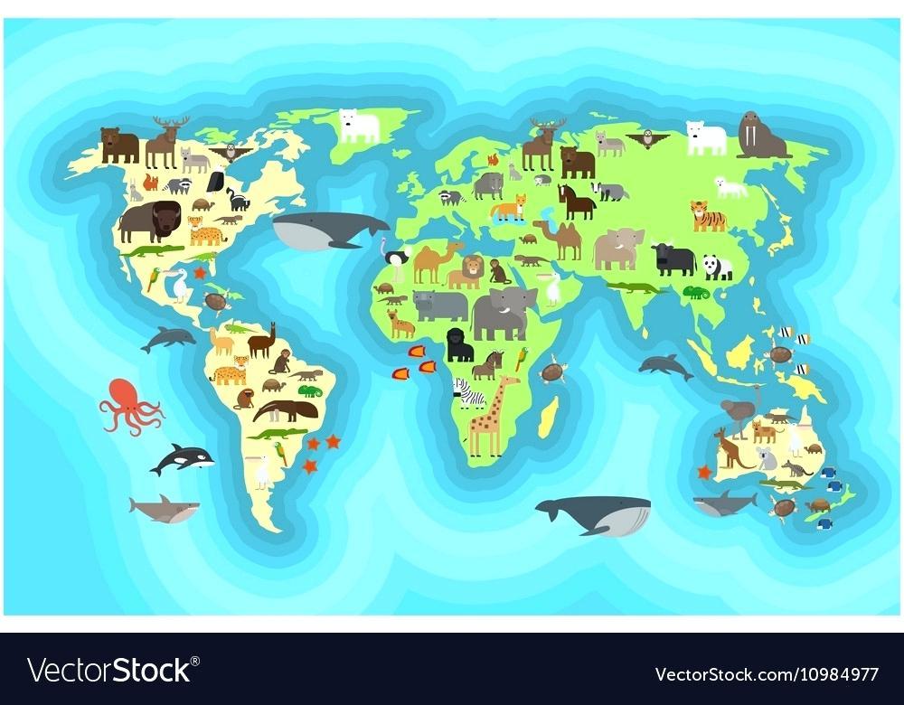 World Map Wallpaper Animals World Map Wallpaper Design - World Map , HD Wallpaper & Backgrounds