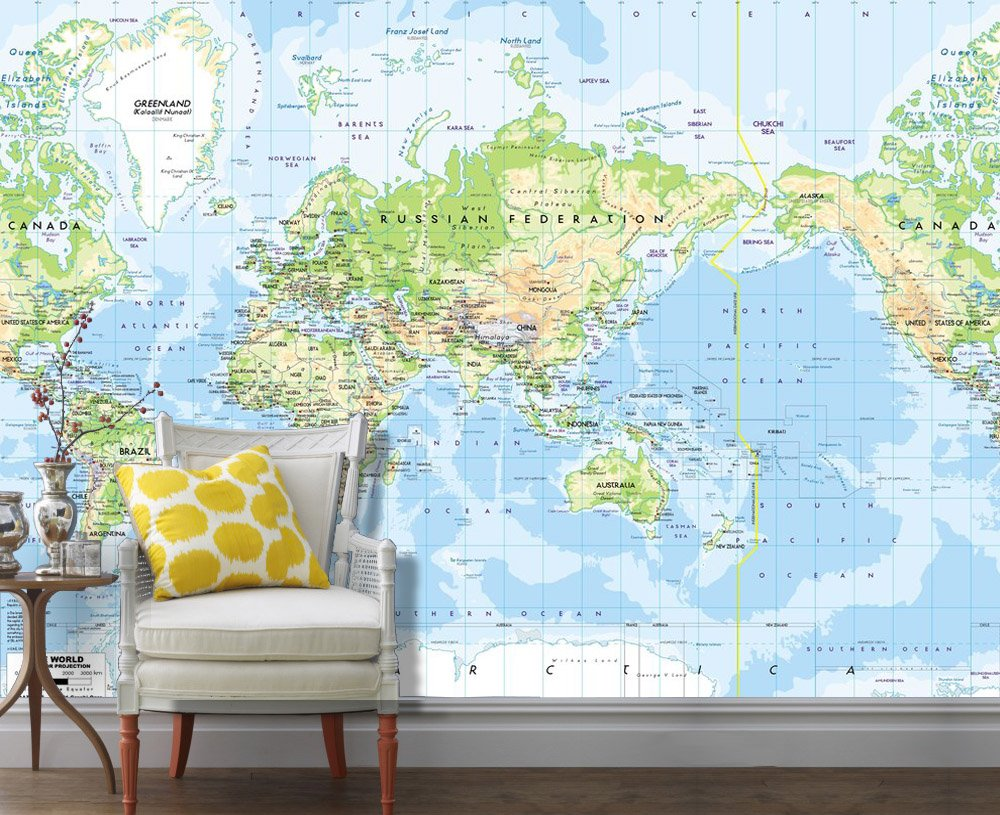 Removable Wall Mural - Map , HD Wallpaper & Backgrounds