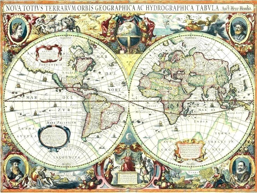 Old World Map Wallpaper Vintage Maps A Decorative Antique - Map Vintage , HD Wallpaper & Backgrounds