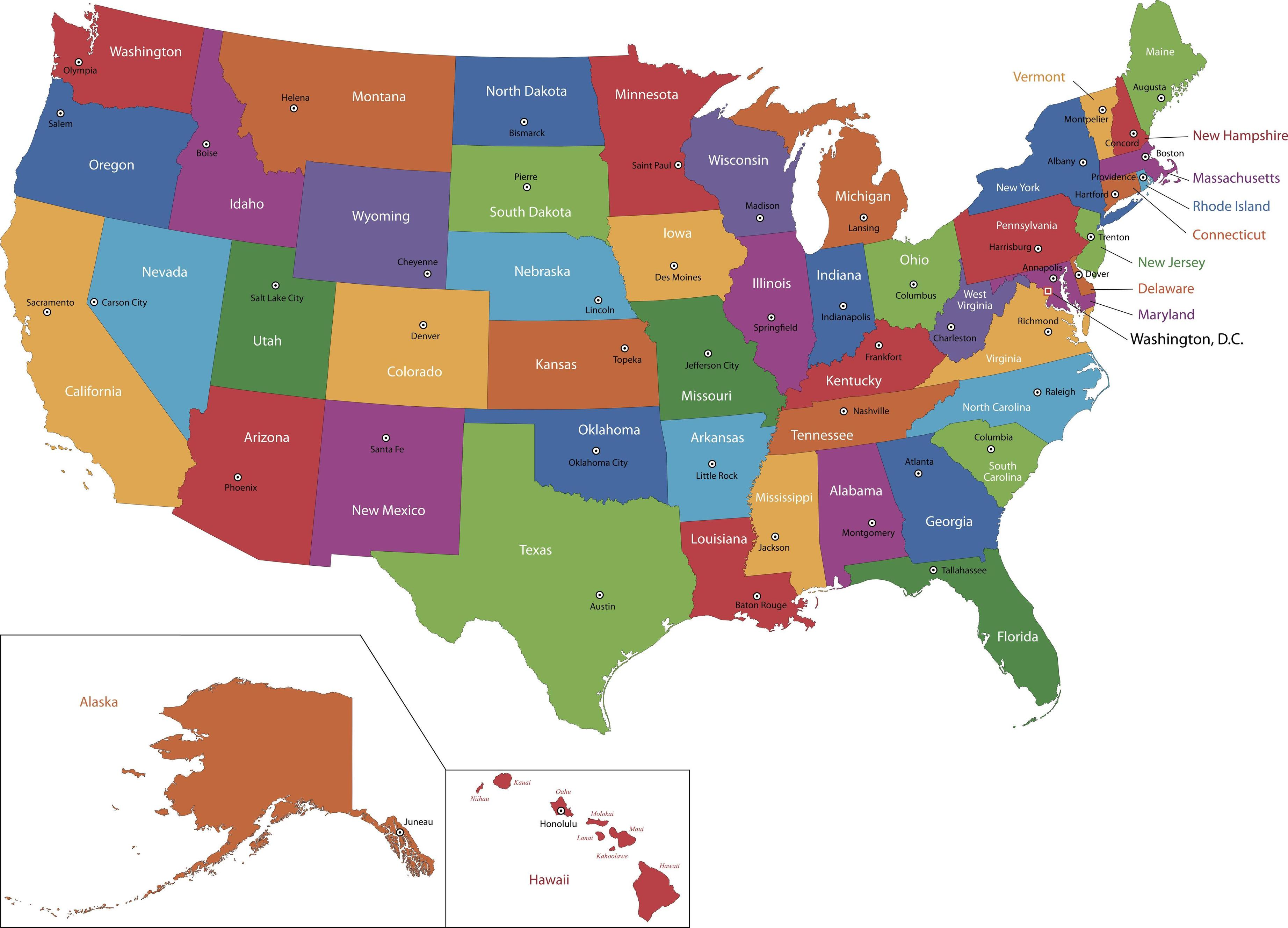 Us Map Wallpapers - High Resolution Map Of Us State , HD Wallpaper & Backgrounds