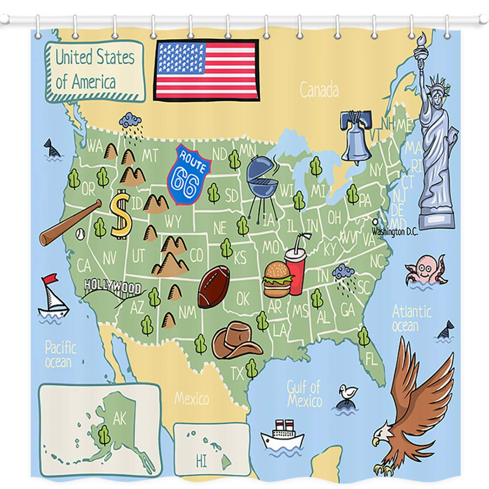 Nymb Wanderlust Usa Map For Children And Kids Wallpaper ...