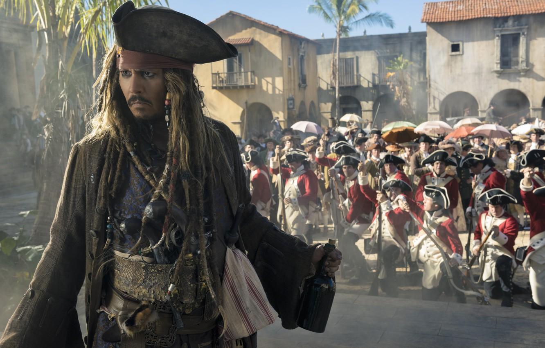 Photo Wallpaper Johnny Depp, Jack Sparrow, Pirates - Jack Sparrow Dead Man Tells No Tales , HD Wallpaper & Backgrounds