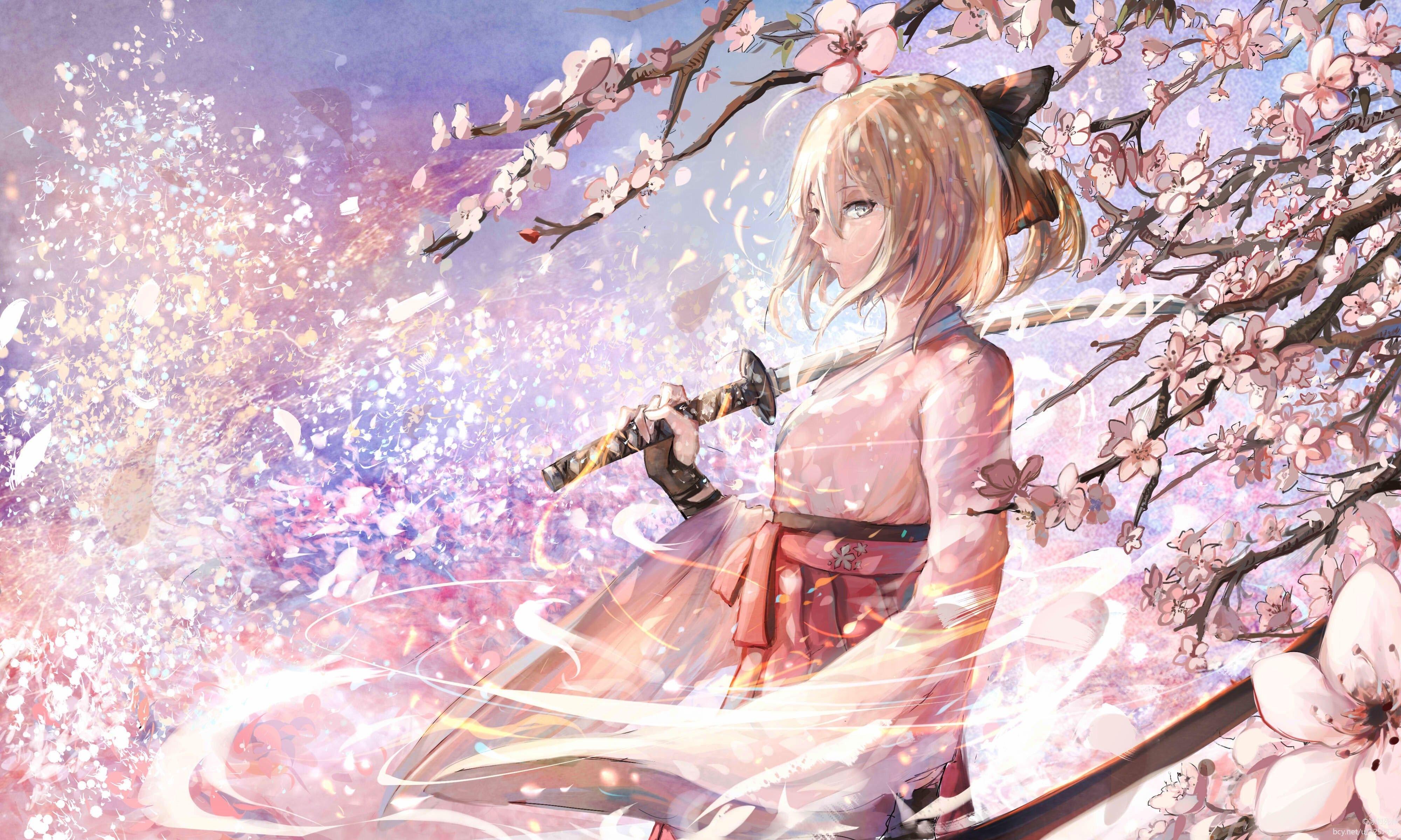 Anime Cherry Blossom Wallpaper Cherry Blossom Japanese Anime 1918369 Hd Wallpaper Backgrounds Download