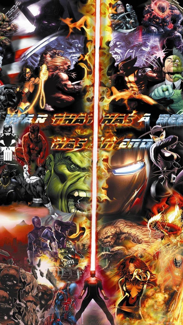 Fullscreen Dc Vs Marvel Background 1919428 Hd Wallpaper