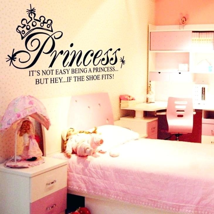 Wall Decals For Girls Bedrooms Princess Art Quote Wall ...