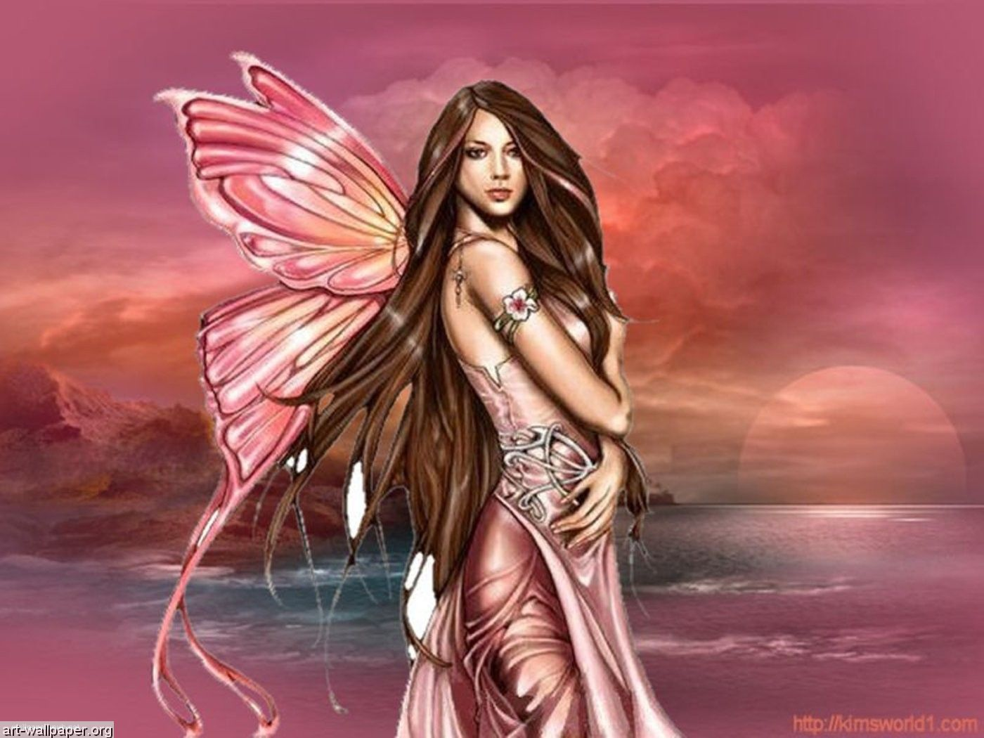 Fantasy Fairy Art Pink Or Red Fairy 1920625 Hd