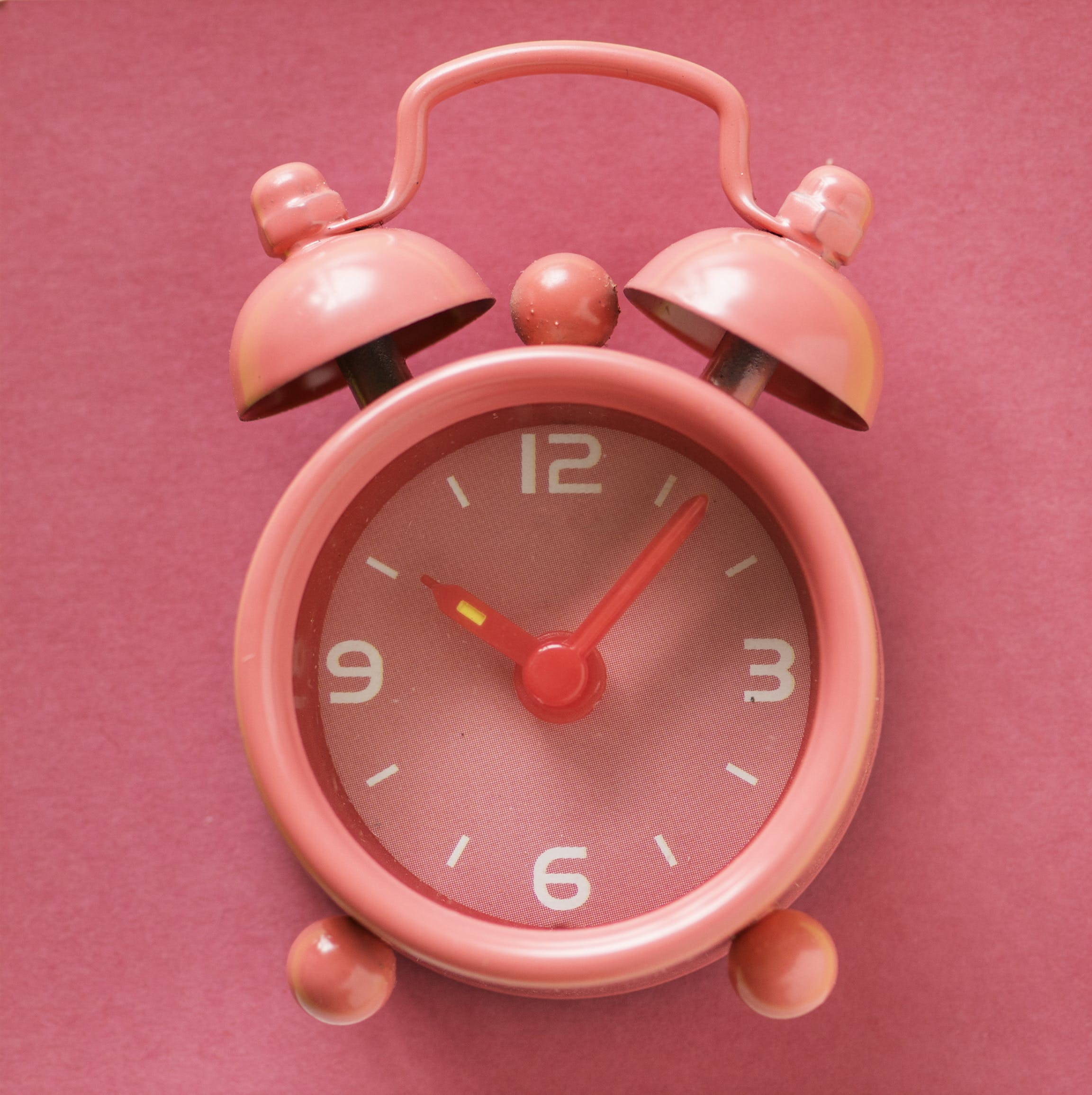 Close Up Photography Of Alarm Clock Pink Clock Aesthetic