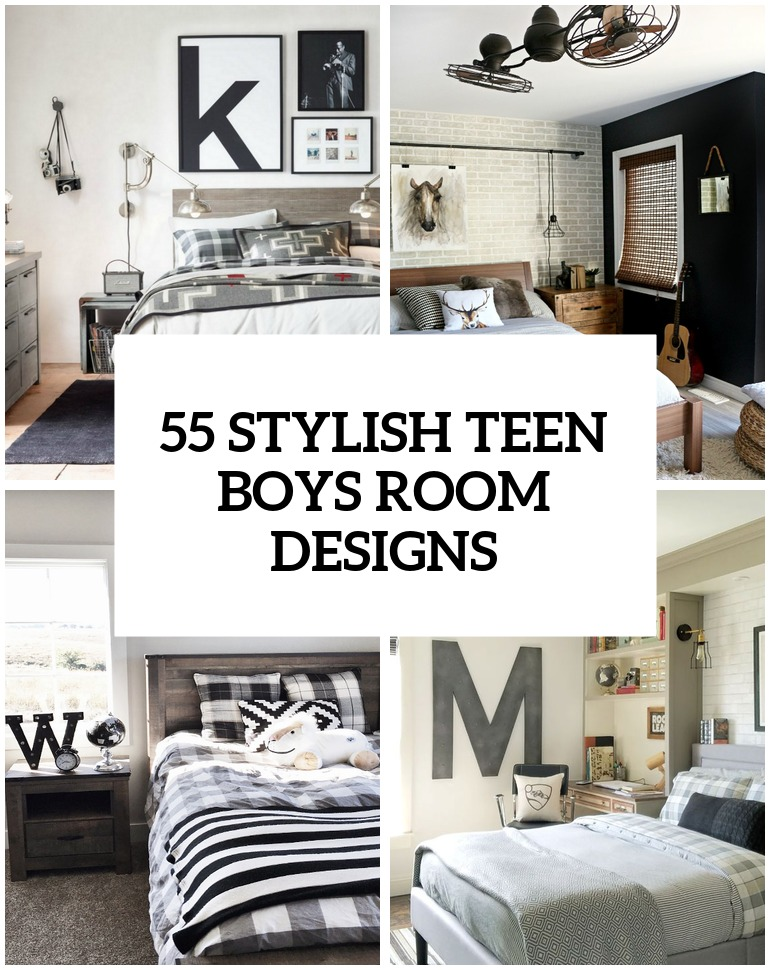 55 Modern And Stylish Teen Boys\' Room Designs - Contemporary ...