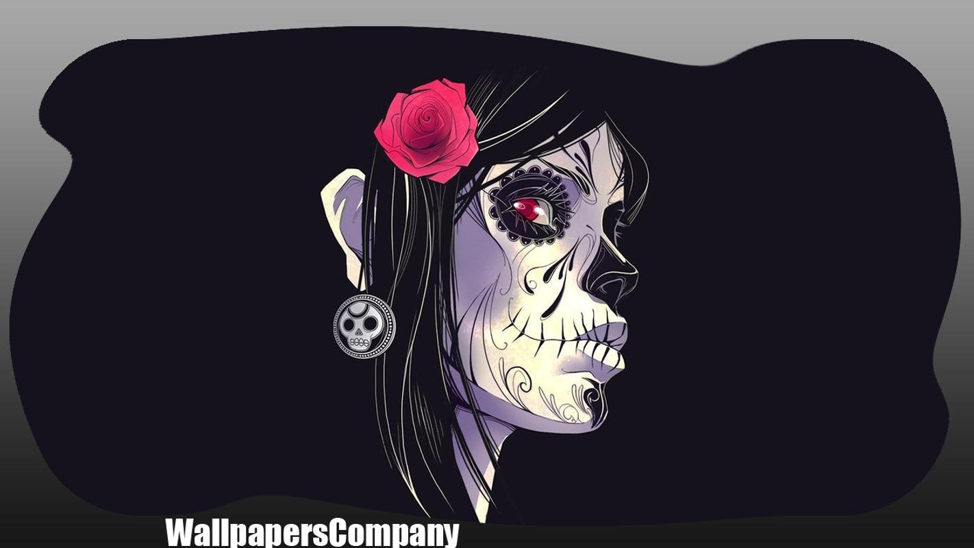 Skull Wallpapers For Android Skull Girl Wallpaper Iphone