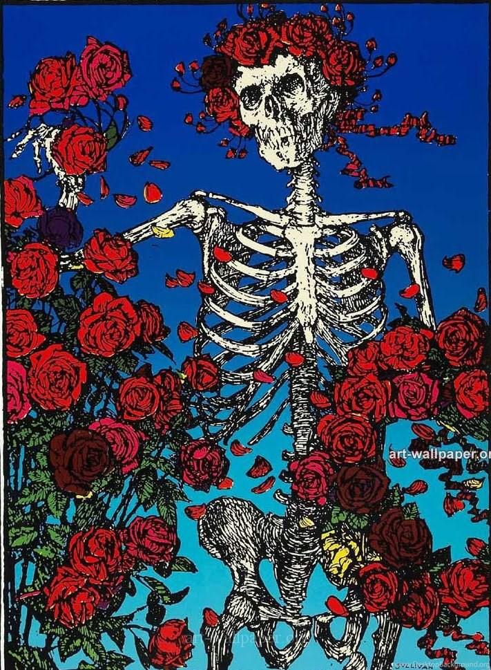 Com Grateful Dead Skull And Roses Wallpapers Desktop