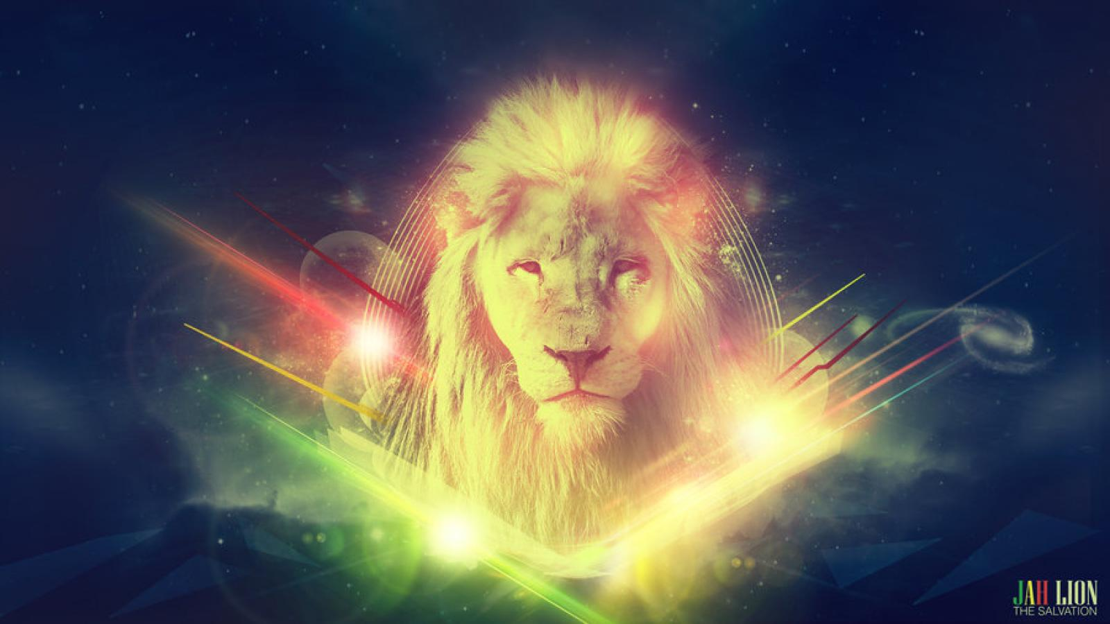 Rainbow Lion Hd Wallpaper - Lion Jah , HD Wallpaper & Backgrounds