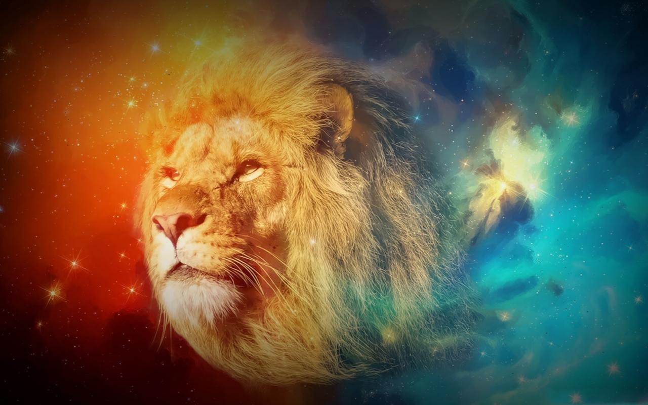 Rainbow Lion Desktop Pc And Mac Wallpaper - Horizon Kodi , HD Wallpaper & Backgrounds