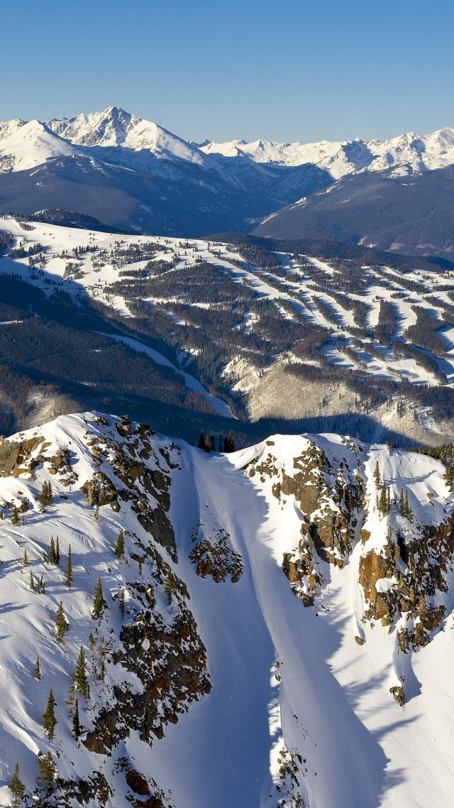 5k, 4k Wallpaper, Colorado, Usa, Travel, Tourism, Mountains - Vail Colorado , HD Wallpaper & Backgrounds