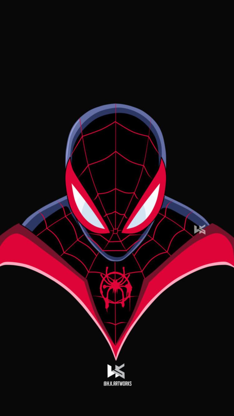Spiderman Miles Morales Art Spider Man Into The Spider Verse
