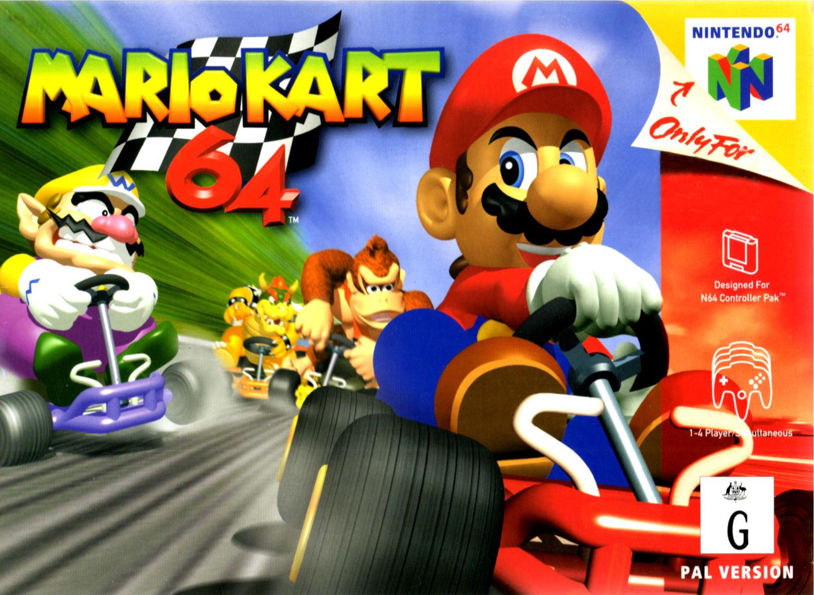 Mario Kart 64 Wallpaper Mario Kart 64 Box Art 1934785