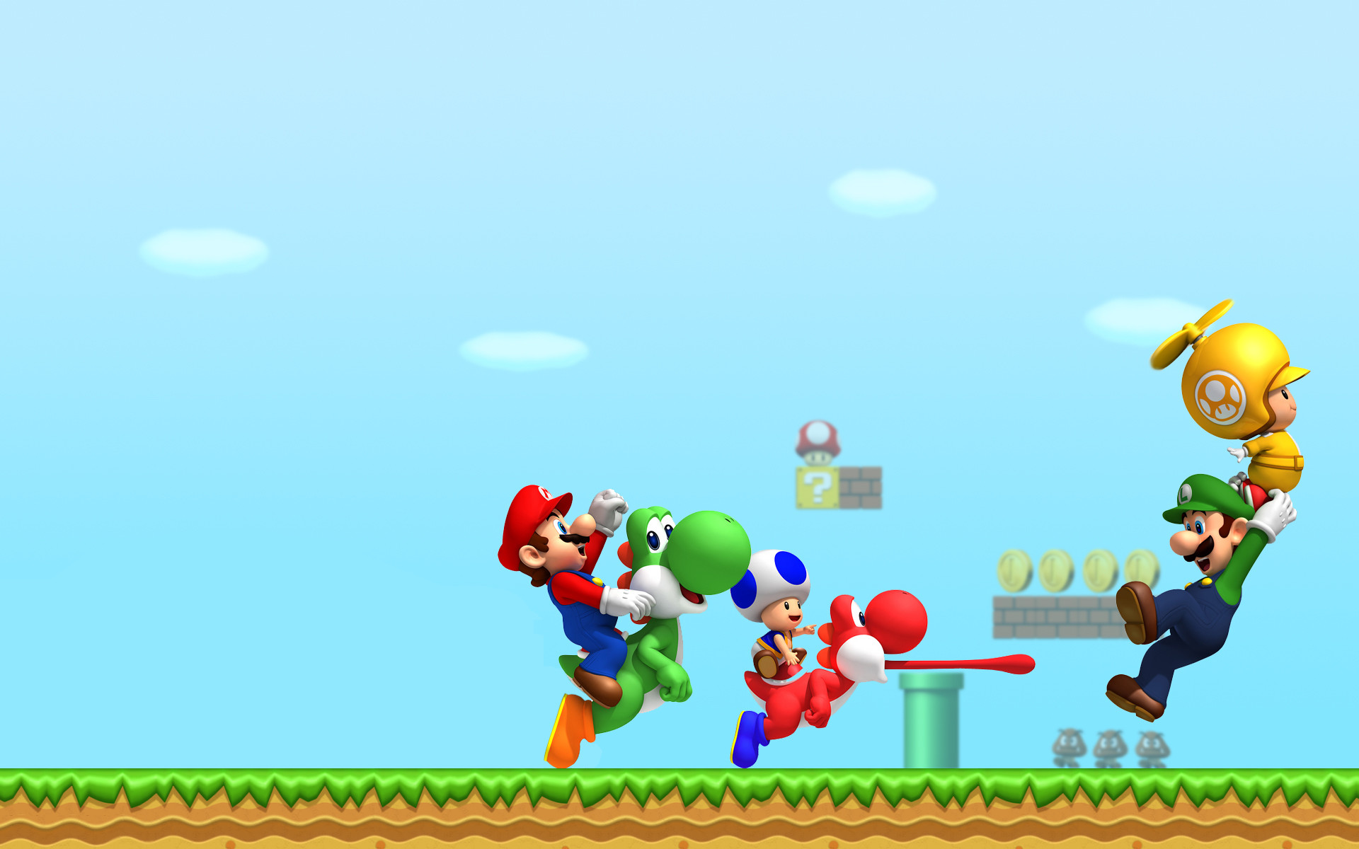 Mario Luigi New Super Mario Bros Wii 1934811 Hd Wallpaper