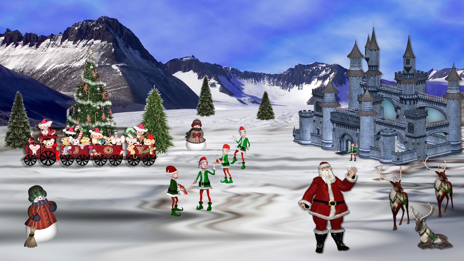 Gaming Desktop Christmas Wallpaper 4k