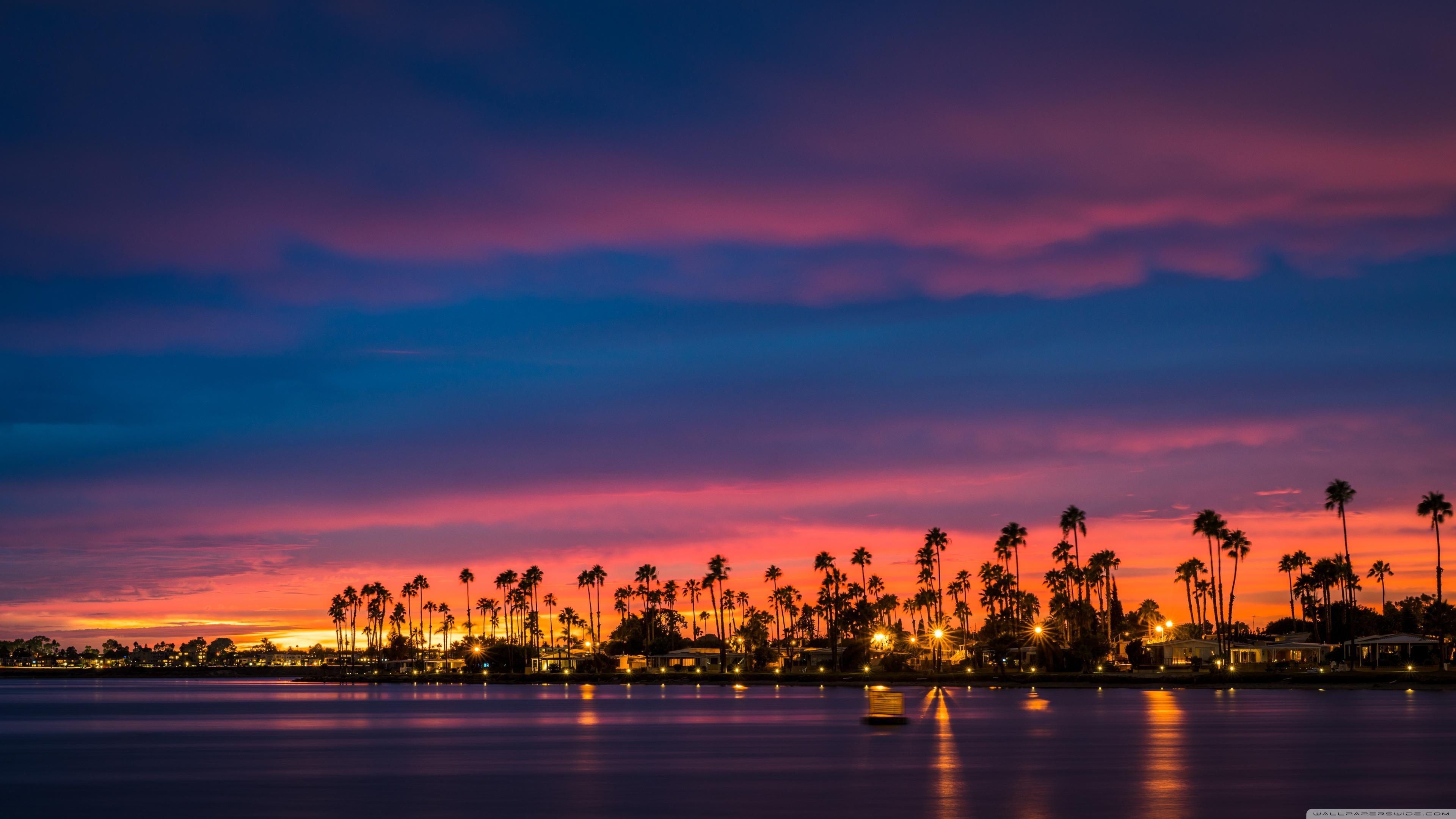 Uhd 16 - - Desktop Wallpaper 4k Sunset , HD Wallpaper & Backgrounds