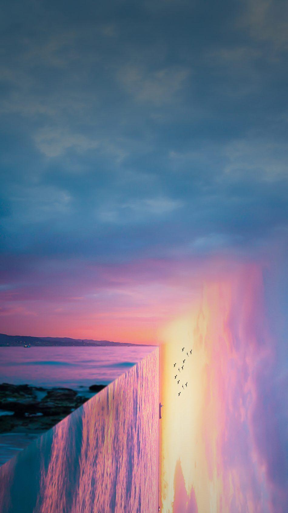 Sunset Sea Reflection Art 4k Ultra Hd Mobile Wallpaper Art