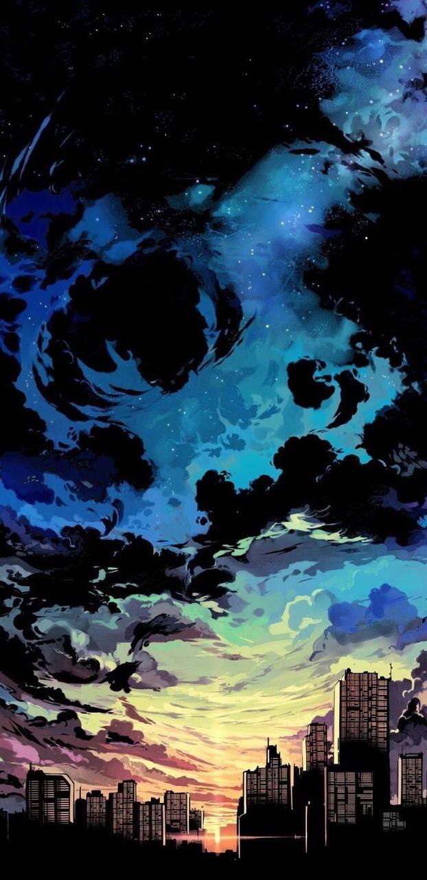 3d Art Sunset Wallpaper Cool Wallpaper Mobile Anime