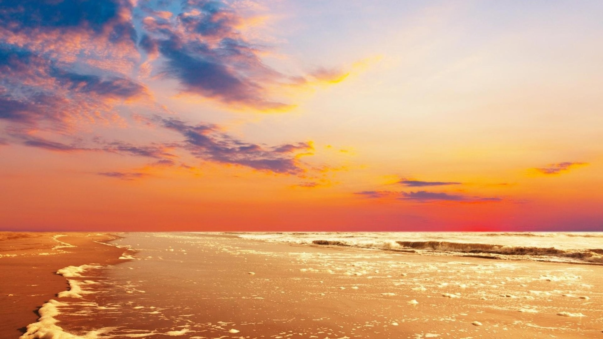 Download, Mobile, High Resolution, Clouds, Sea, Beauty,hd - High Resolution Sunset Sky , HD Wallpaper & Backgrounds