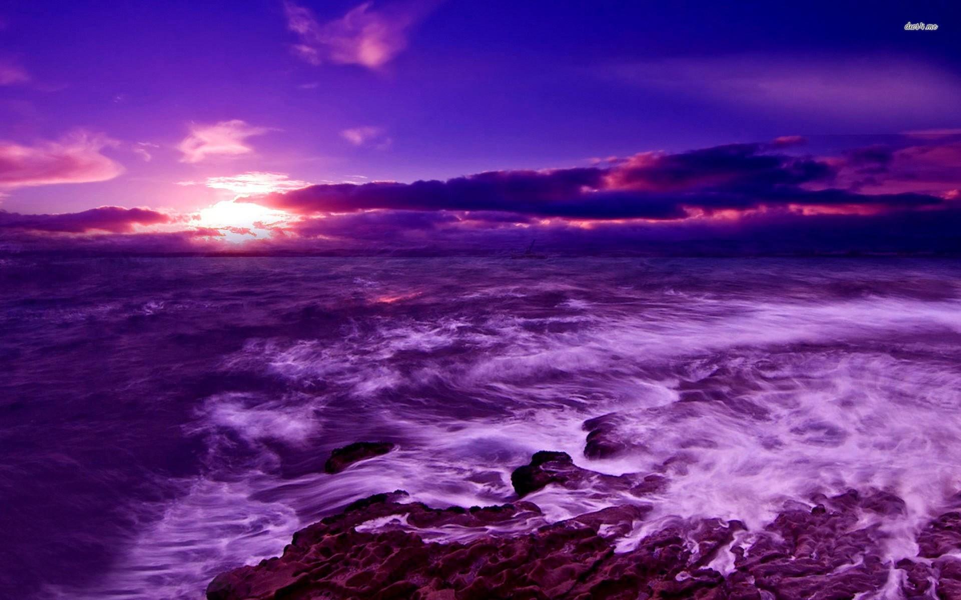 Shipwreck Purple Sunset Wallpaper Wallpapertic - Oil Paintings Art Landscape Nature , HD Wallpaper & Backgrounds