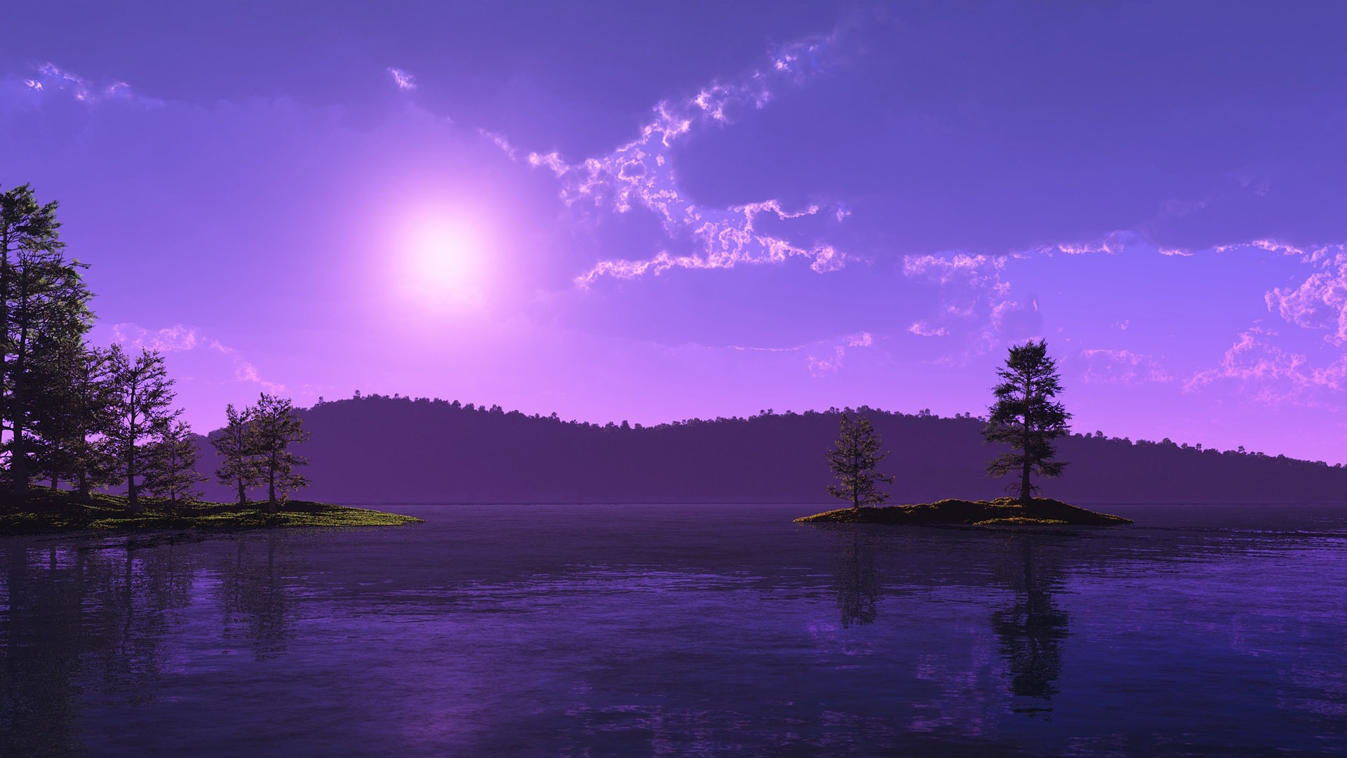 Purple Sunset Hd Wallpaper Purple Sunset 1944294 Hd Wallpaper Backgrounds Download
