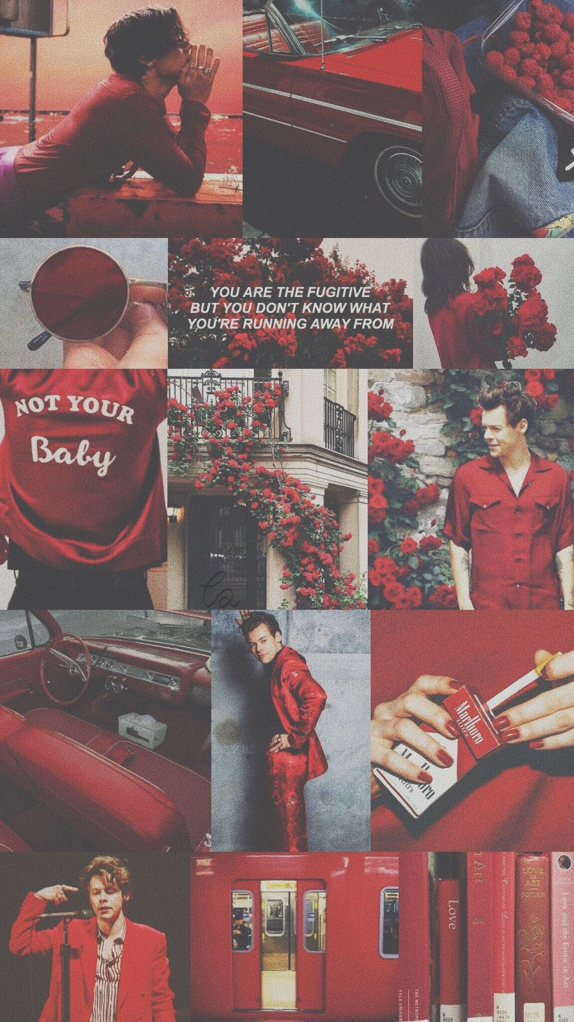 Harry Styles // Red Aesthetic Wallpaper - Aesthetic Wallpaper Harry Styles , HD Wallpaper & Backgrounds
