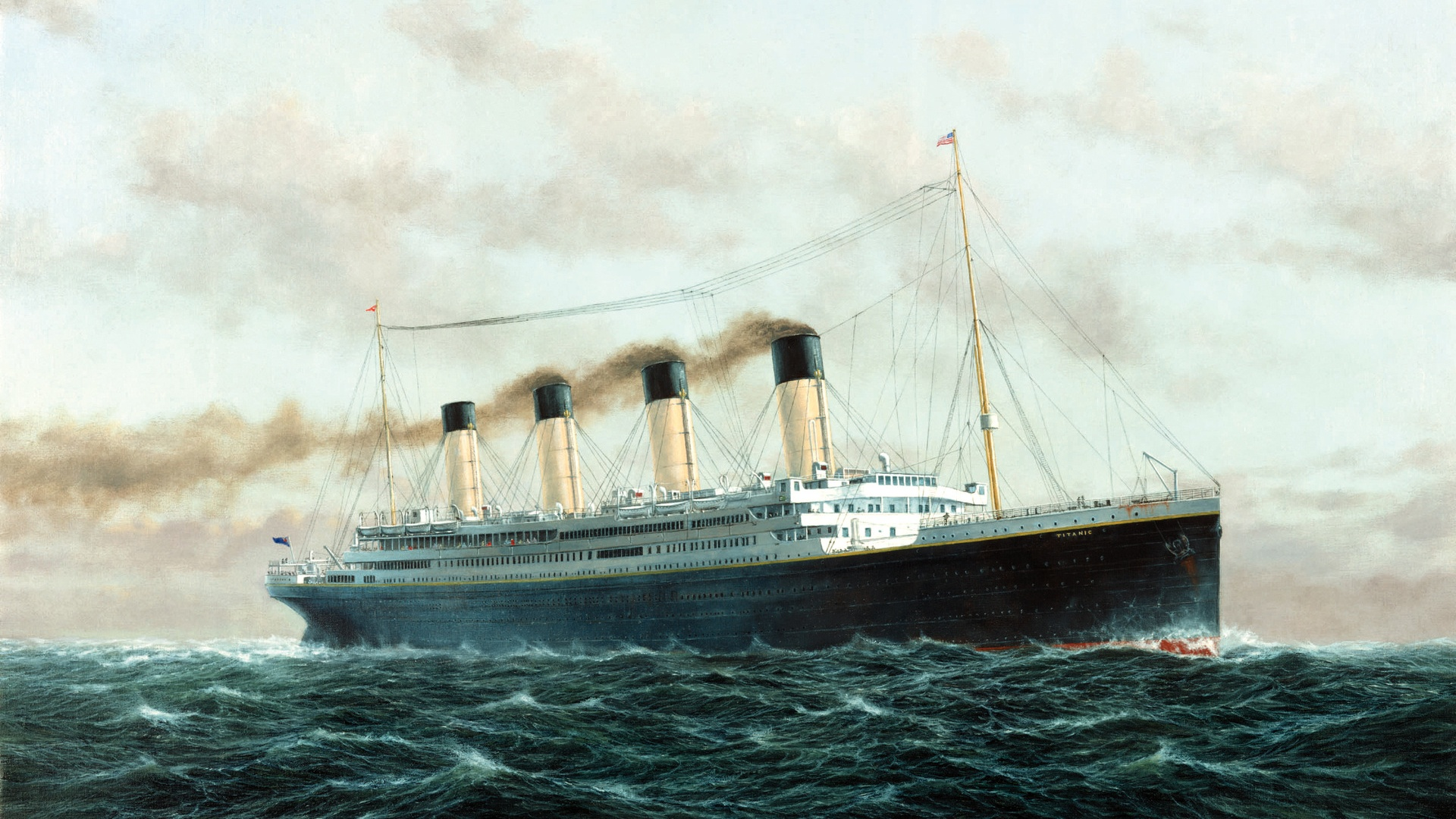 Rms Titanic At Sea 1947271 Hd Wallpaper Backgrounds Download