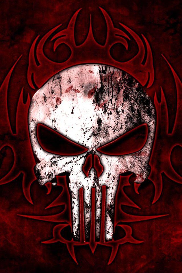 Scull Scary Wallpaper, Deadpool Wallpaper, Tribal Wallpaper, - Punisher Wallpaper Phone Hd , HD Wallpaper & Backgrounds