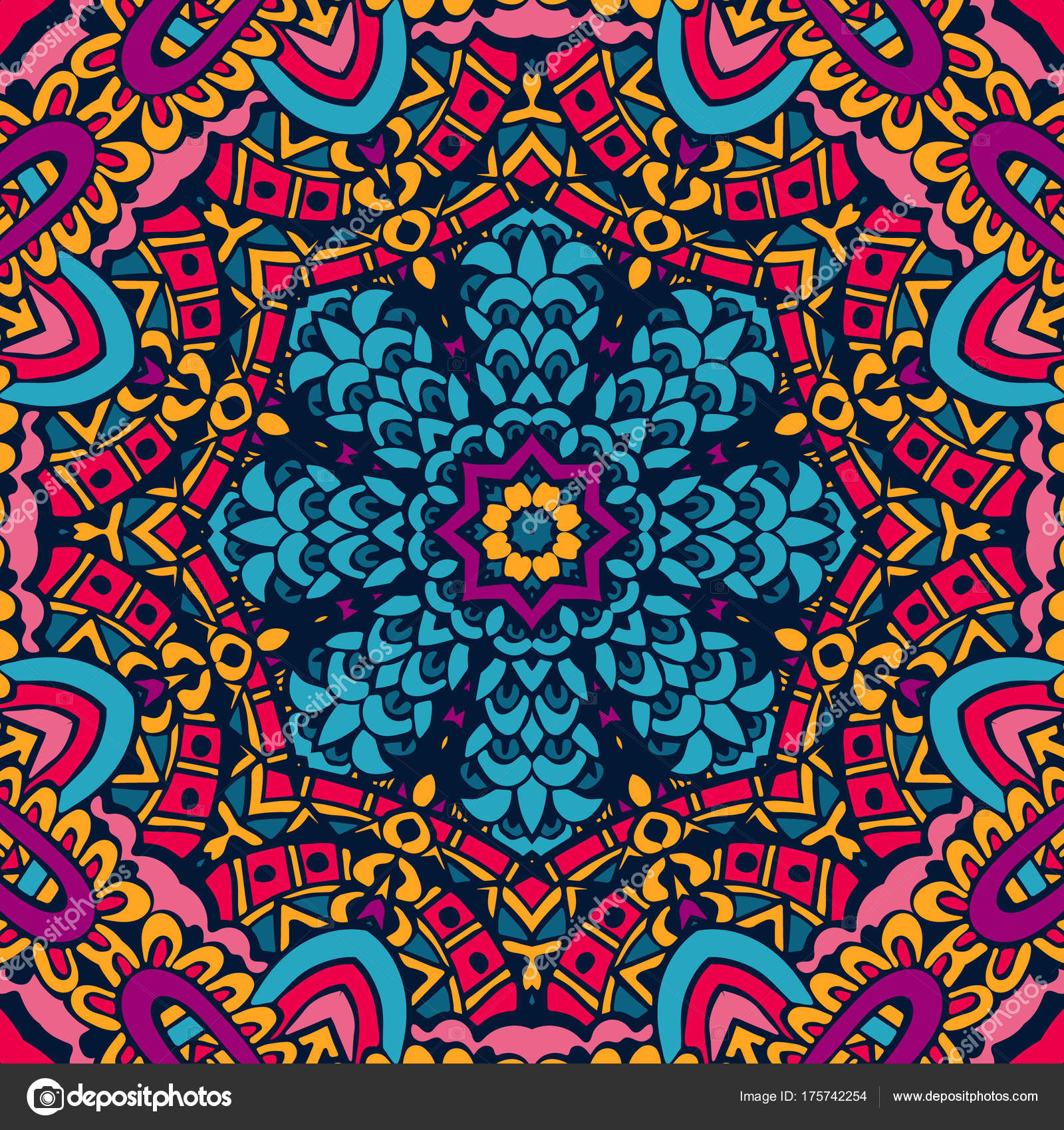 Festival Art Seamless Pattern - Motif , HD Wallpaper & Backgrounds