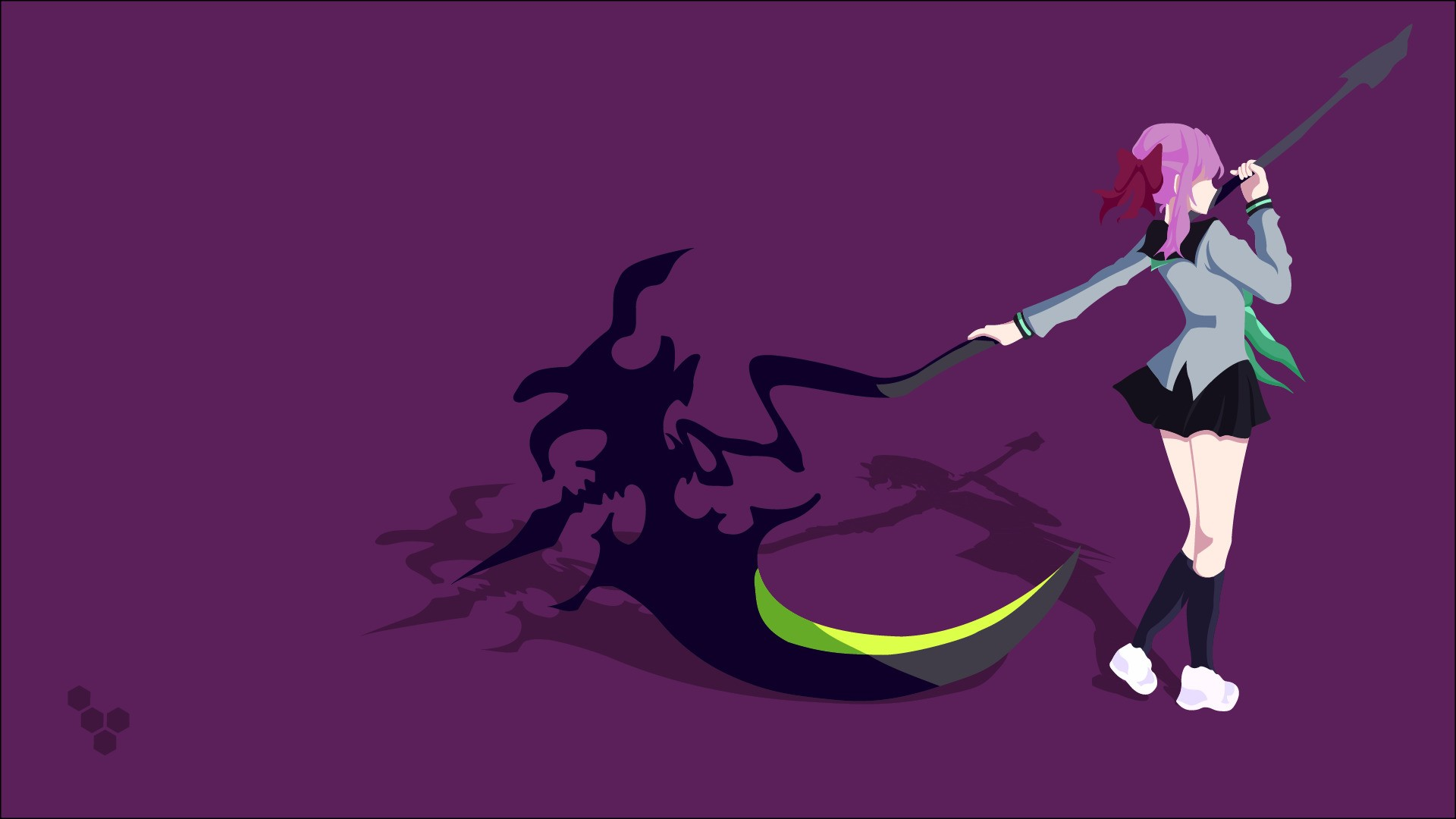 Hiiragi Shinoa Scythe Vectors Vector Art Simple Background - Hd