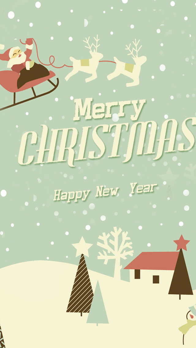 Merry Christmas And Happy New Year Illustration , HD Wallpaper & Backgrounds