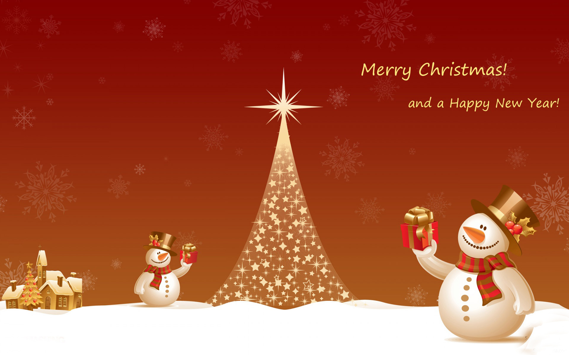 Merry Christmas And Happy New Year Hd Wallpaper - Merry Christmas And Happy New Year Snowman , HD Wallpaper & Backgrounds