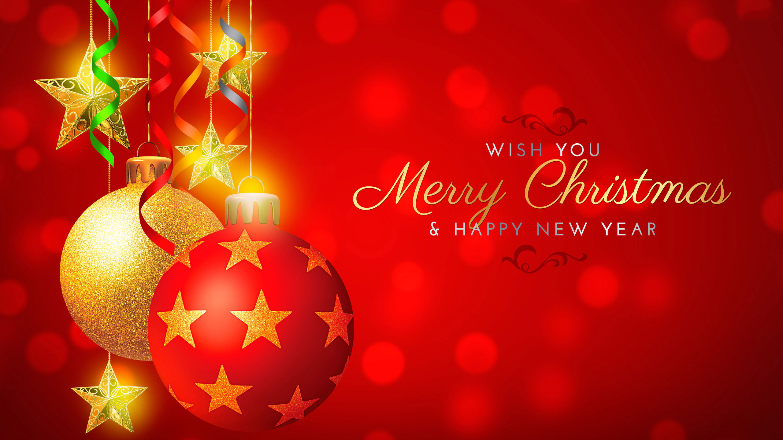 Wish You Merry Christmas And Happy New Year Wallpaper - Happy Vietnamese New Year 2018 , HD Wallpaper & Backgrounds
