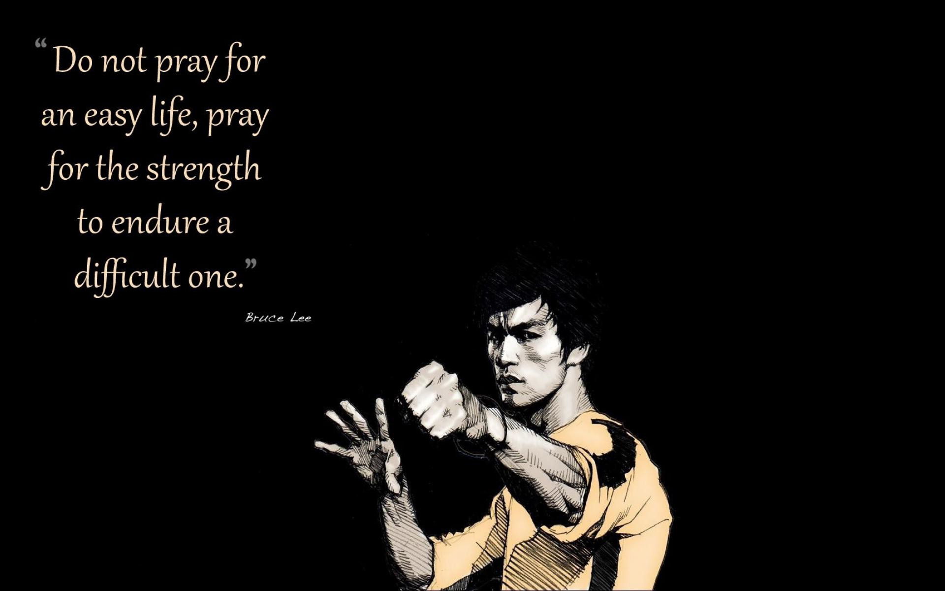 Bruce Lee Quotes Facebook Cover Wallpaper Do Not Pray For Easy Life 1955558 Hd Wallpaper Backgrounds Download