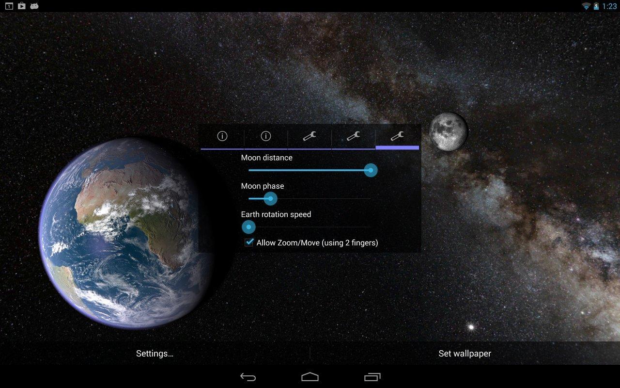 Earth And Moon Live Wallpaper Wallpapersafari - Earth E Moon Pro Apk , HD Wallpaper & Backgrounds