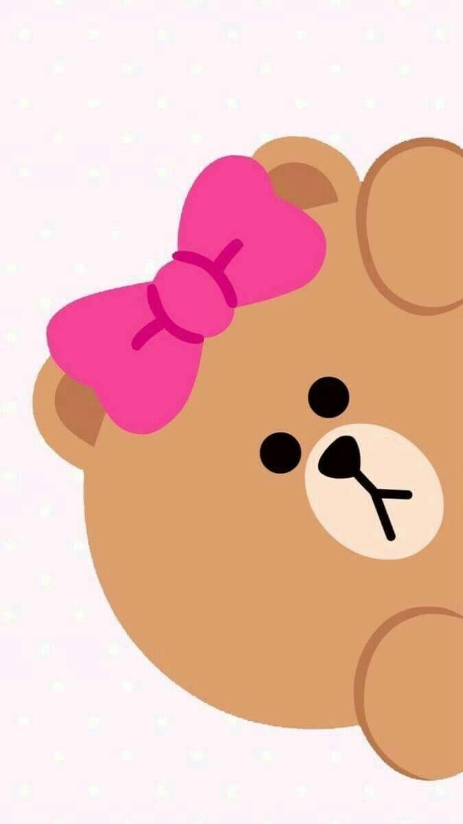 Cute Wallpaper For Phone, Bear Wallpaper, Friends Wallpaper, - Pink Choco Line Friends , HD Wallpaper & Backgrounds