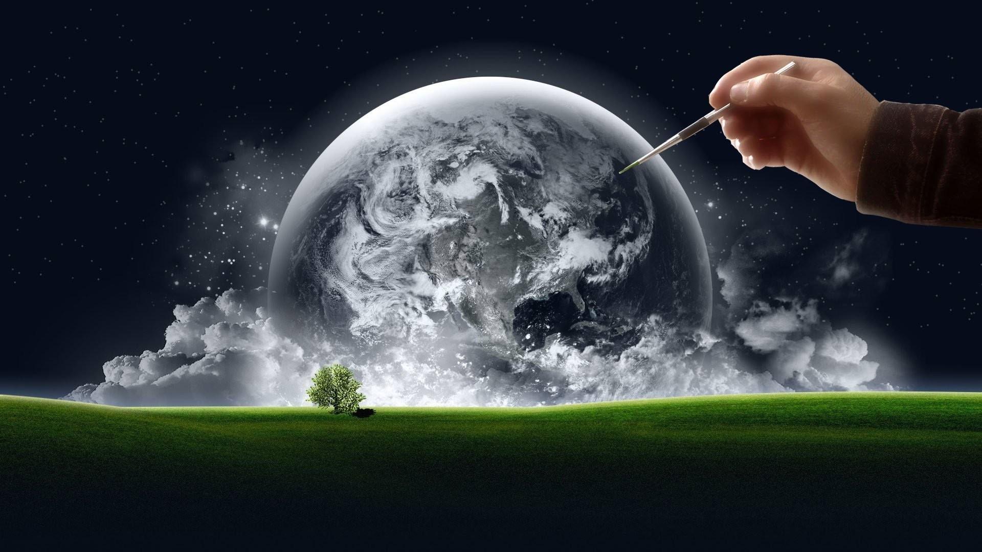 Clouds, Smart Phones Ios, Trees, Desktop Wallpapers, - Nature Space Wallpaper Hd , HD Wallpaper & Backgrounds