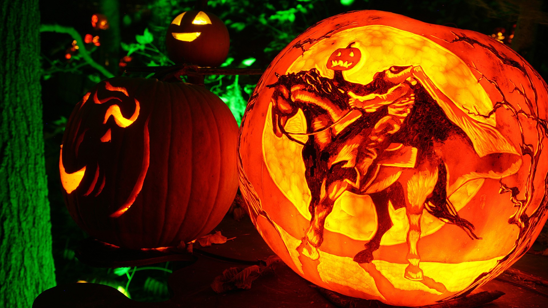 Desktop Halloween Jack O Lantern Hd 1957322 Hd Wallpaper