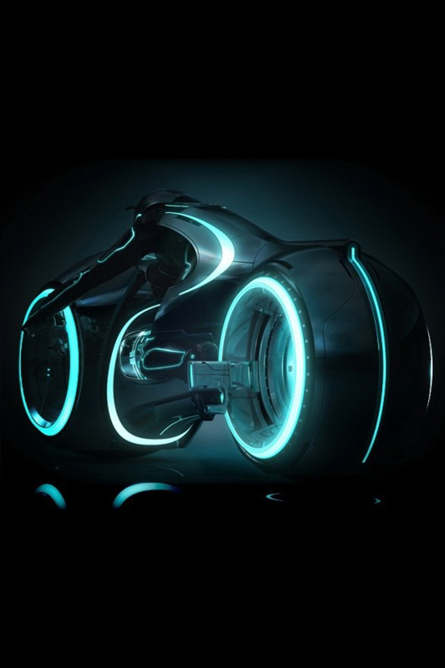 Tron Legacy Iphone 4s Wallpaper - Tron Light Cycle , HD Wallpaper & Backgrounds