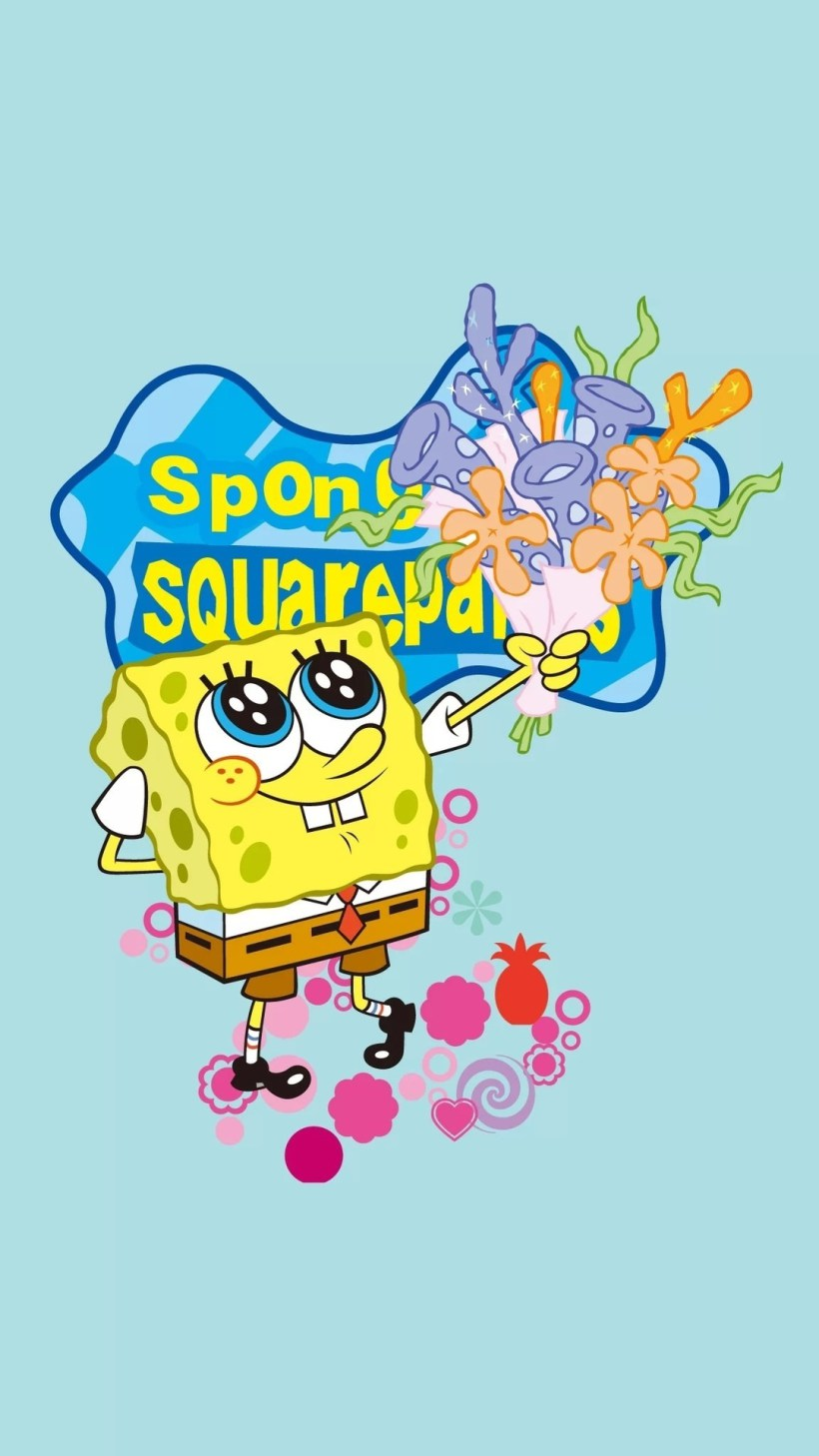 Gambar Spongebob Lucu Buat Wallpaper Spongebob With A Flower 1959693 Hd Wallpaper Backgrounds Download