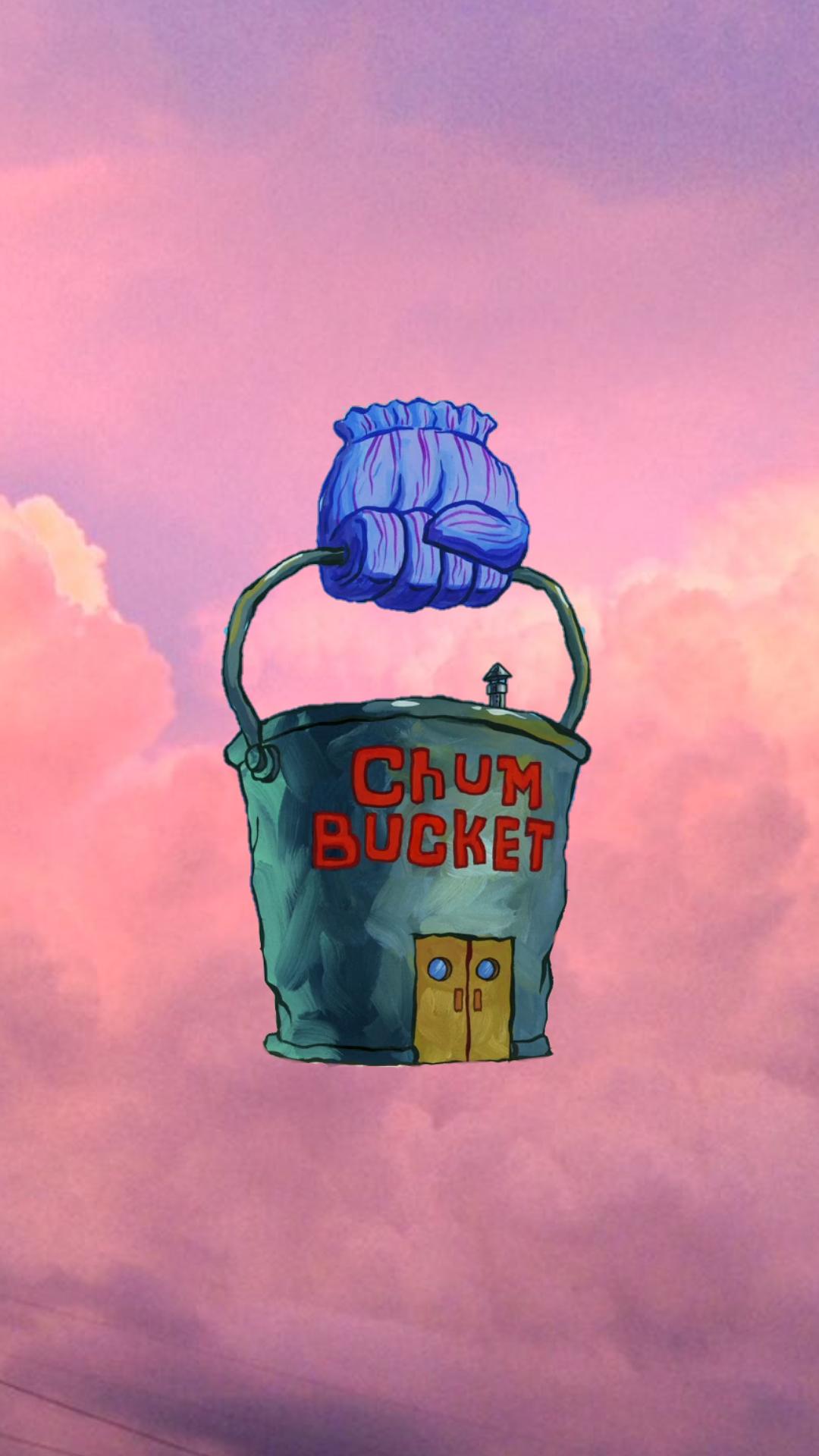 Krusty Krab & Chum Bucket Spongebob Aesthetic Wallpaper - Spongebob Aesthetic , HD Wallpaper & Backgrounds
