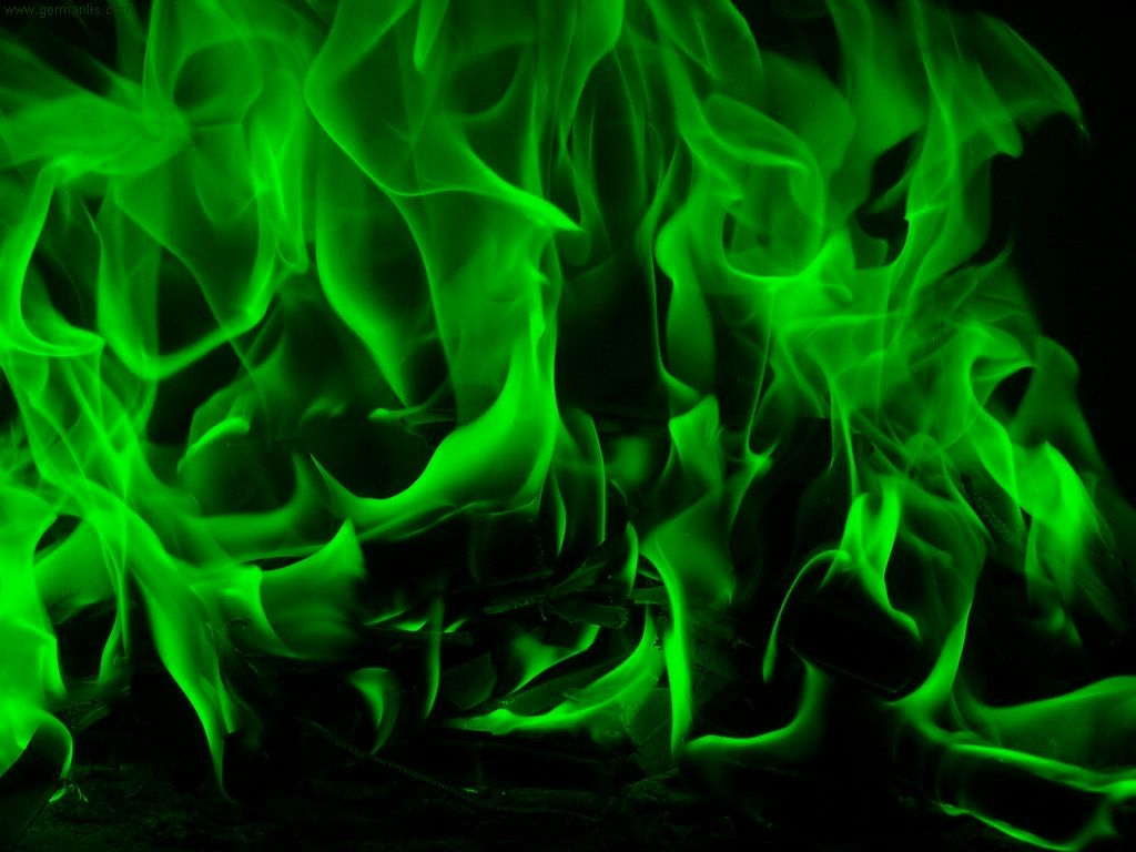 Green Flame - Green Fire , HD Wallpaper & Backgrounds